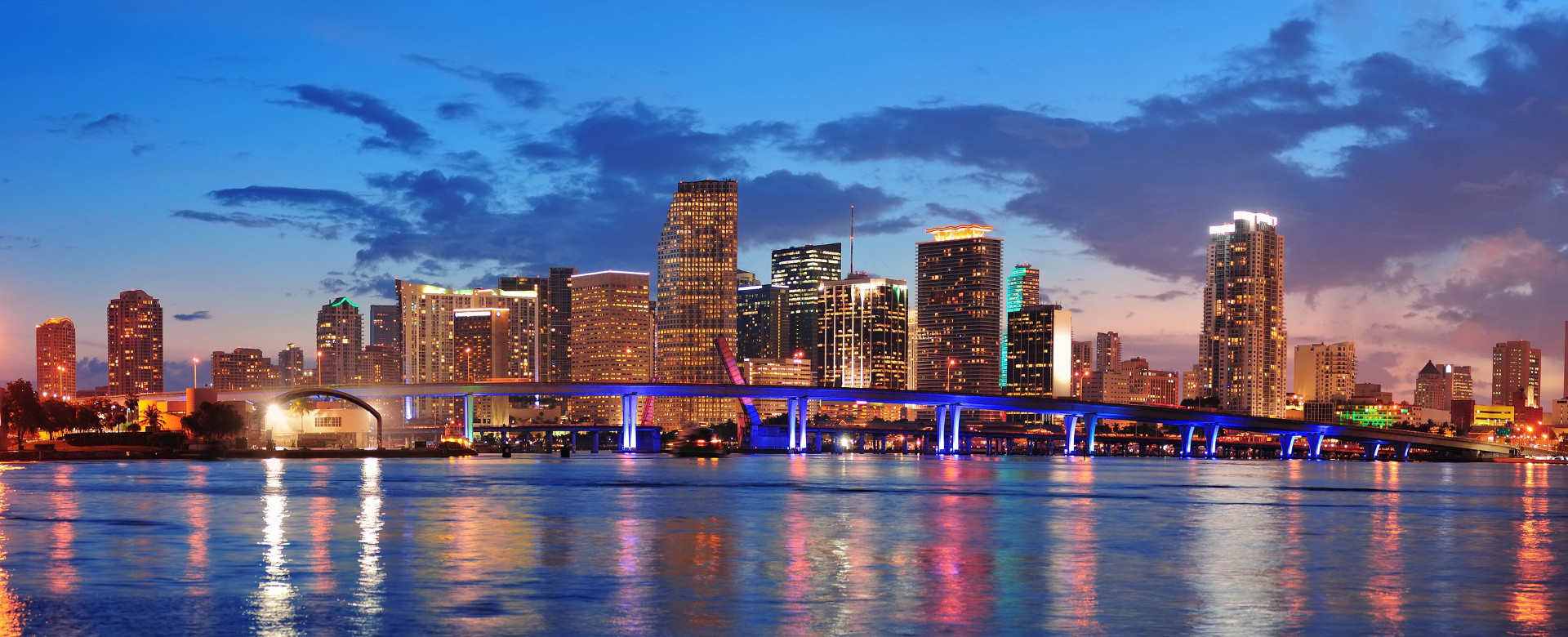 Miami City Skyline by night