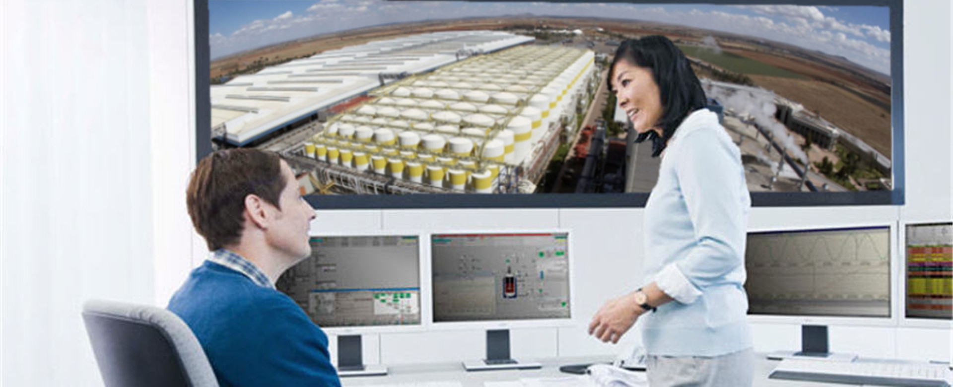 Process Control Room - large screen